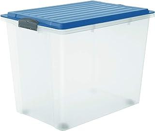 con Asas Relaxdays Organizador para frigor/ífico Transparente 1 Unidad para Alimentos Estrecho 10 x 11 x 37,5 cm