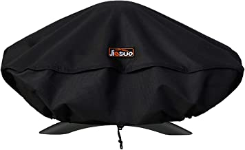 JIESUO Grill Cover for Weber Q Series Grill, Portable Grill Cover for Weber Q2000 and Q200 Grills (Not Fit for Weber Q2200)