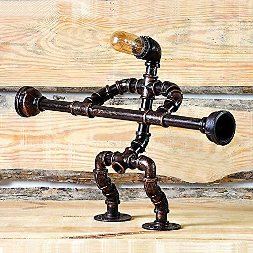 SWNN lámpara de mesa Tubo De Hierro De Agua Lámpara De Mesa, Hércules Metal Del Tubo De La Lámpara, La Lámpara Creativa Industrial Viento (65 * 14 * 41cm, E27 Boca)