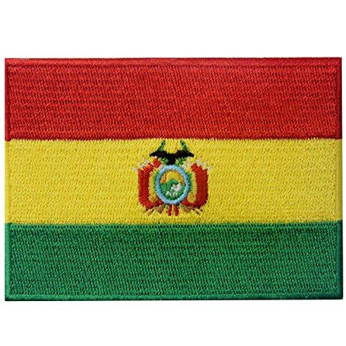 Bolivien-Flagge, bestickt, zum Aufbügeln oder Aufnähen, Nationalemblem