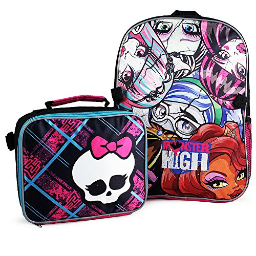 Monster High Backpack and Lunch Bag Set