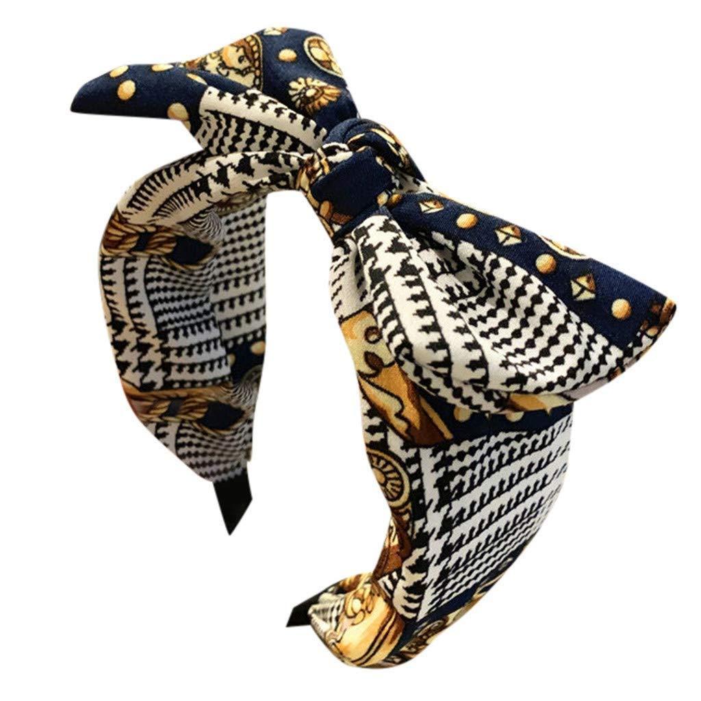 ZXCTD Handmade Cloth Art Cross Knot Broadside Comfortable Hair Hoop Hairband Headband Headwear Hair (Color : A)