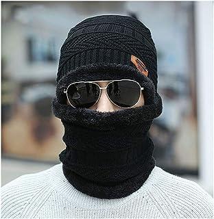 Shegirl قبعة شتاء للرجال والنساء مجموعة قبعة دافئة متماسكة قبعة سميكة للخروج للتزلج قبعة للشتاء