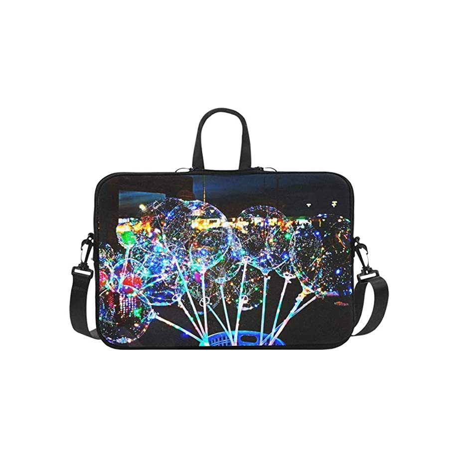 Great Transparent Balloon Color Pattern Briefcase Laptop Bag Messenger Shoulder Work Bag Crossbody Handbag for Business Travelling
