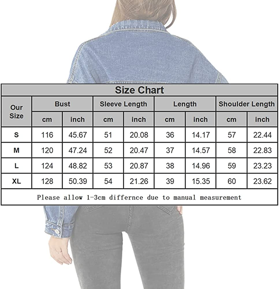 JJSUnS Womens Casual Ripped Crop Denim Jacket with Pockets Button Down Long Sleeves Lapel Collar Coat Outwear Tops