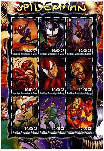 Francobolli da collezione Marvel/Spiderman da Collezione - Incredibile opera d'arte di Spiderman - Smontata - Mint mai incernierate