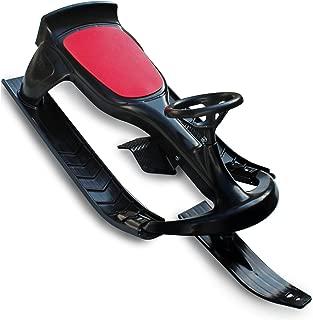 Flexible Flyer PT Blaster Steering Ski Sled with Brakes. Plastic Snow Slider
