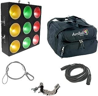 Chauvet DJ Core 3X3 Pixel Mapping Tri Color Wash Light Panel W/Clamp Bag Cables