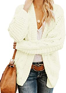 Warm Oversized Chunky Work Casual Jacket NRUTUP Color Block Long Sweater with Hood Knit Cardigan Sweater for Women