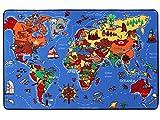Spielteppich Lernteppich für Kinder - Weltkarte,...