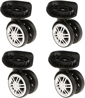 YJ-102 Black kesoto 4 Piece//Set 360 Rotating Flexible Universal Swivel Wheels Lightweight Mute Caster Wheel Replacement Repair for Luggage Case Suitcase
