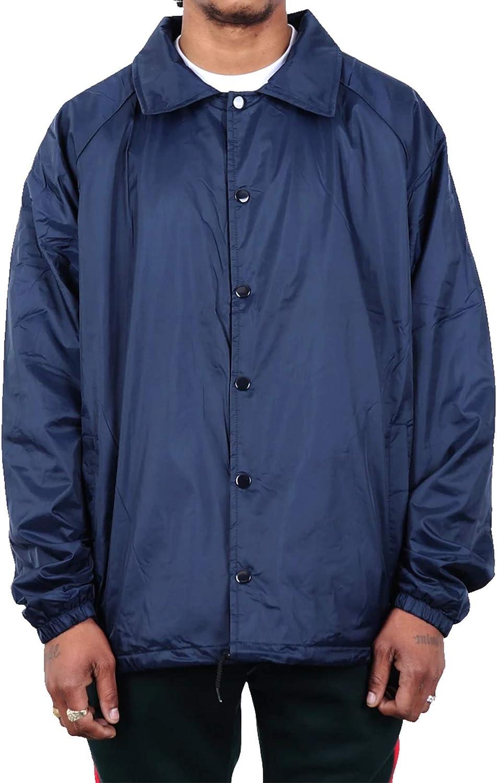 WESTSUMMIT Premium Water-Resistant Trendy Rain Coach Work Jacket Windbreaker
