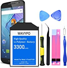 Wavypo Moto X Pure Battery, [Upgraded] 3300mAh FX30 Replacement Battery Li-Polymer SNN5964A for Motorola Moto X Pure Edition XT1572 XT1575 Style with Repair Toolkit [24 Month Warranty]