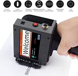 Newest Handheld Inkjet Printer 300DPI / 400DPI / 600DPI Label Printer with Touch Screen QR Code Production Logo Date Label Printer