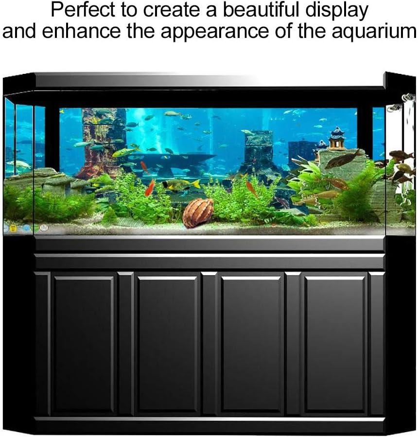 Aquarium Background Sticker,Fish Tank Underwater Coral Poster Aquarium Backdrop Wall Decorations Sticker