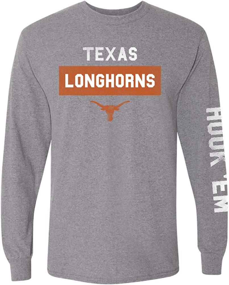 Dunbrooke Apparel NCAA Unisex-Adult Texas Longhorn Triblend Short Sleeve Tee