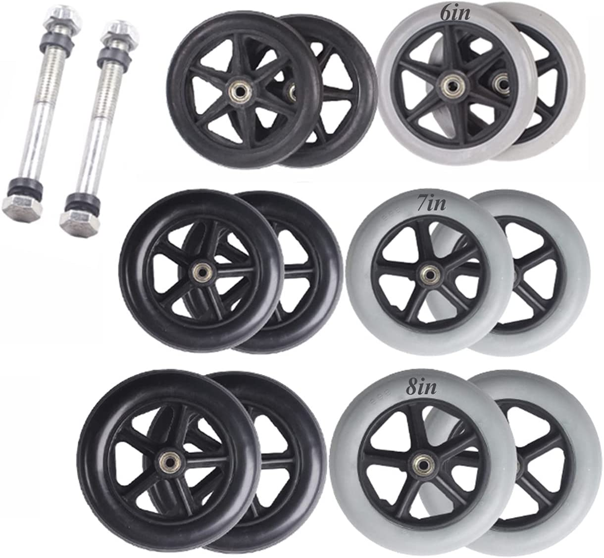 YFGYF Pack of 2 New life - Replacement Front Wheelchair High order Wheels Universa