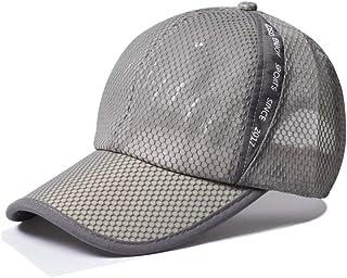 KXF 6 Panel Adjustable Full Mesh Baseball Cap Classic Sports Casual Sun Hat Quick Drying Outdoor Sport Running Cap
