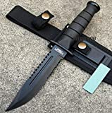 10.5' Fixed Blade Tactical Combat Hunting Survival Knife w/ Sheath Bowie [5750]