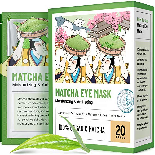 Under Eye Mask – Under Eye Bags Treatment, Moisturizes With Green Tea Anti-Aging Effect, Eye Mask for Puffy Eyes, Matcha Extract Under Eye Gel Pads For Dark Circles Reducing
