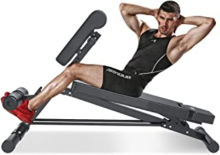 YOLEO Adjustable Weight Bench- 500lbs Utility Bench for Full Body Workout; Multi Purpose Incline&Decline Fitness Bench Roman Chair; Sit Up Abs All-in-One Hyper Back Extension Exercise Bench