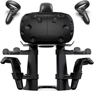 Delamu VR Stand, VR Headset Stand Compatible with Oculus Quest, Rift S/HTC Vive, VR Headset and Controllers Holder