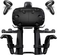 Delamu VR Stand, Virtual Reality Headset and Controllers Holder, VR Headset Stand Compatible with Oculus Go/Rift/Quest, HTC Vive, Google Daydream, Samsung VR