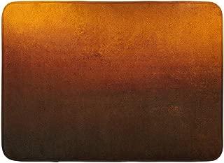 Emvency Doormats Bath Rugs Outdoor/Indoor Door Mat Yellow Gradient Orange Copper Colored Warm Brown Earth Tones and Dramatic Black Border Vintage Color Bathroom Decor Rug Bath Mat 16