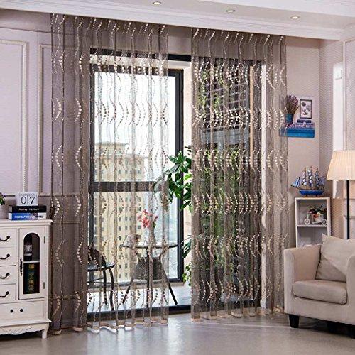 Met Love Écrans de rideau de ventilation respirant simple ondulation moderne Exquisite Jacquard haute qualité gaze creux (Couleur : A, taille : L:2.5*H:2.7m)