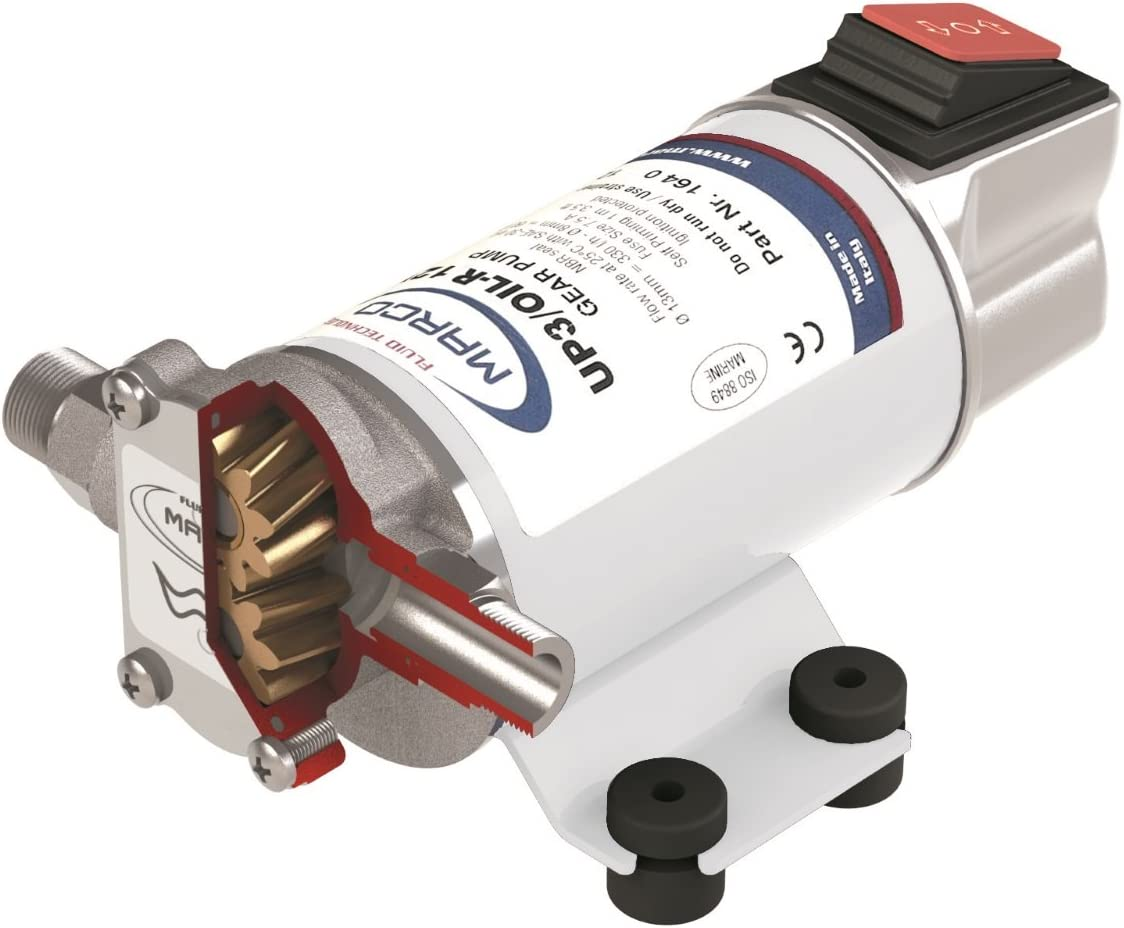 Max 66% OFF Marco UP3 specialty shop Oil-R Low Speed 24V M164-022-13 Reversible Pump