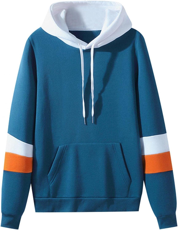 Men's Sweatshirts BlockColor Cozy Fashion Mens Athletic Hoodies Loose Long Sleeve Pullover Sports Sweatshirt Coats