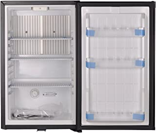 SMETA 12V Lockable Truck Refrigerator Portable Fridge,110V No Noise Dorm Cooler,1.6 cu ft