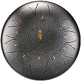 Qianyuyu Tambor Metálico de Lengüetas Acero Tambor de la Lengua Tongue Drum Nstrumentos 12...