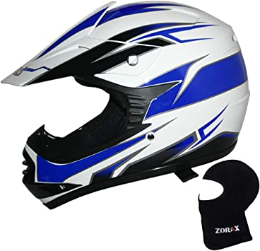 5cm Zorax Motocross GLOVES S /& GOGGLES /& Leopard Blue S LEO-X16 Kids Motocross HELMET Children Quad Bike ATV Go Karting Helmet 49-50cm