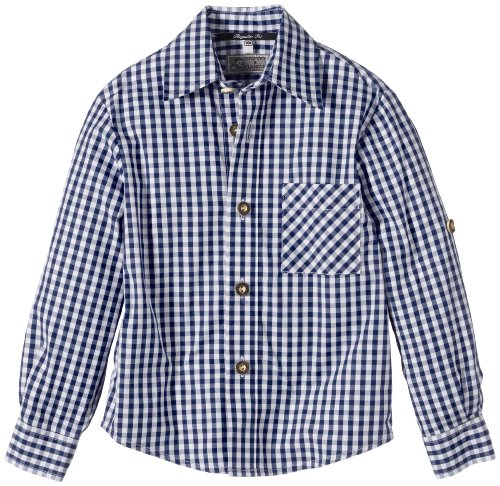 G.O.L. Jungen Hemd Trachtenhemd, Vichy-Karo, Gr. 158, Blau (blau/weiß 1)