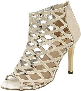64012a40714 Sandalias de mujer Zapatos de tacón alto Peep Toe de moda para mujer  Sandalias romanas de