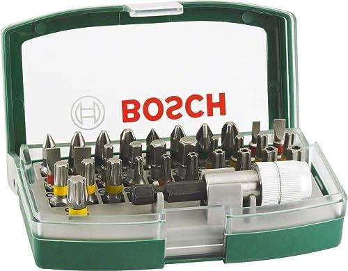 Bosch 32pièces Jeu d'embouts (accessoires pour outils électriques et tournevis à main)