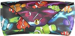 Leather Sunglasses Case Ide Rainbow Clownfish Lightweight Soft Portable Eyeglasses Pouch Bag for Men Women