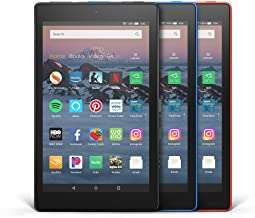 Fire HD 8 3-Pack, 16GB - Includes Special Offers (Black/Marine Blue/Punch Red)