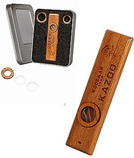 Wooden Kazoo Musical Instrument Guitar Ukulele Vintage Guitar Partner With Box Gift for Kids Adults