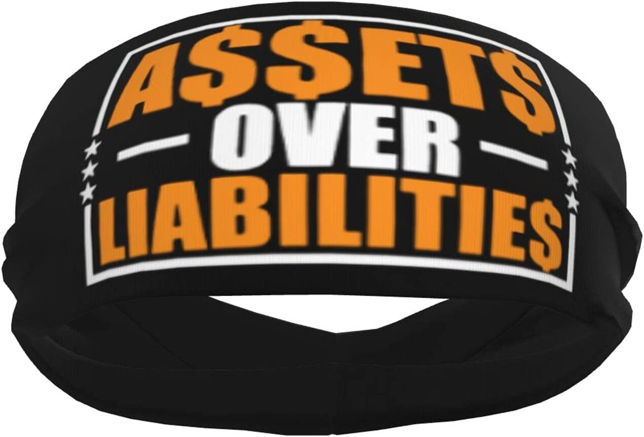 Ldmsl Assets Over Liabilities Popular products Super special price Unisex Sweatbands Athletic Elastic