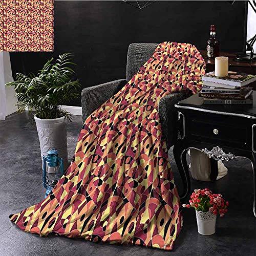 GGACEN bank deken visgraat patroon in retrokleuren eenvoudig Funky ontwerp van klassieke mozaïek tegel Cozy hypoallergeen, gemakkelijk te dragen deken