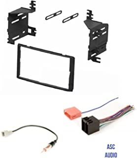 ASC Car Stereo Radio Install Dash Kit, Wire Harness, and Antenna Adapter for installing an Aftermarket Double Din Radio for 2009 2010 2011 2012 Hyundai Santa Fe without Factory Navigation,