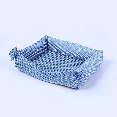 promociones emocionantes WALSITK Exquisito Cuatro Temporadas con artículos para Mascotas de de de Moda de la Perrera extraíbles y Lavables tapete para Mascotas de Encaje Creativo Cuadrado azul Claro 53x43x11cm  nuevo sádico