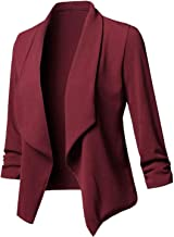 Cardigan Coat Long Sleeve Women Ruched Asymmetrical Casual Business Suit Outwear 2019