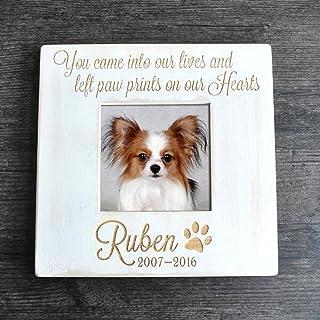 WNGGADH Cadre photo personnalisé pour chien - Cadeau pour les amoureux des chiens - 1 photo imprimée