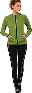 XMWM Active Wear Sets for Women -Workout Clothes Gym Wear TracksuitsYoga Jogging Track Outfit Legging Jacket 2 Pieces Set,...