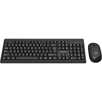 Black Wireless Mini Ultra Slim Keyboard and Mouse for Philips Smart TV 46PFL8606K /& 48PFK6409 /& 47PFL6008K