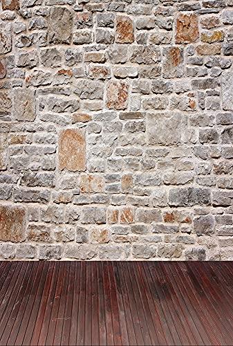 Fondos de Pared para fotografía ladrillo Viejo Papel Pintado Fiesta Retrato fotografía Fondos sesión fotográfica Estudio fotográfico A5 10x7ft / 3x2,2 m