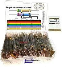 1/8W Resistors Kit, Ltvystore Resistor Assortment Metal Carbon Film 97 Values, 1 Ohm - 1M Ohm Resistor Pack Assorted 1/8 Watt, 5% Resistance 1 8W Resistors Box Set Arduino